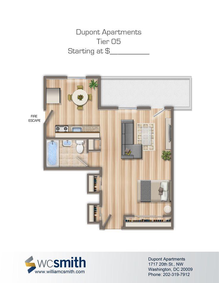 Dupont Apartments. Washington DcFloor PlansApartments