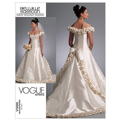 Mccall Pattern V1095 A 6 8 10 Vogue Bridal Wedding