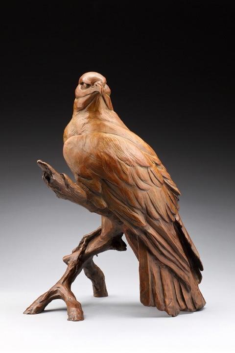 Red tailed hawk alert wood carving pinterest l wren