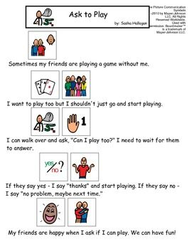 VISUAL SOCIAL STORY PACKET FOR CHILDREN WITH AUTISM: COMMUNICATION SET 2 - TeachersPayTeachers.com