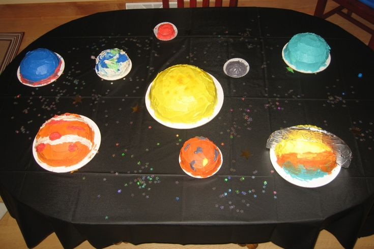 Cake Decorating Ideas Solar System : 46 best images about Space Birthday Party on Pinterest ...