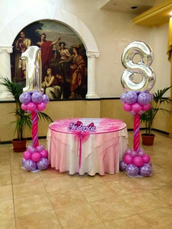 39 best 18th birthday party images on pinterest balloon for Balloon decoration ideas for birthday party