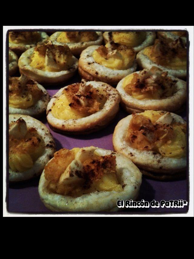Mini tartaletas de manzana y crema