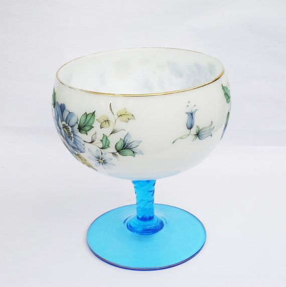 Vintage Saxony Footed Fruit Bowl Handmade by thesecretcupboard, £40.00