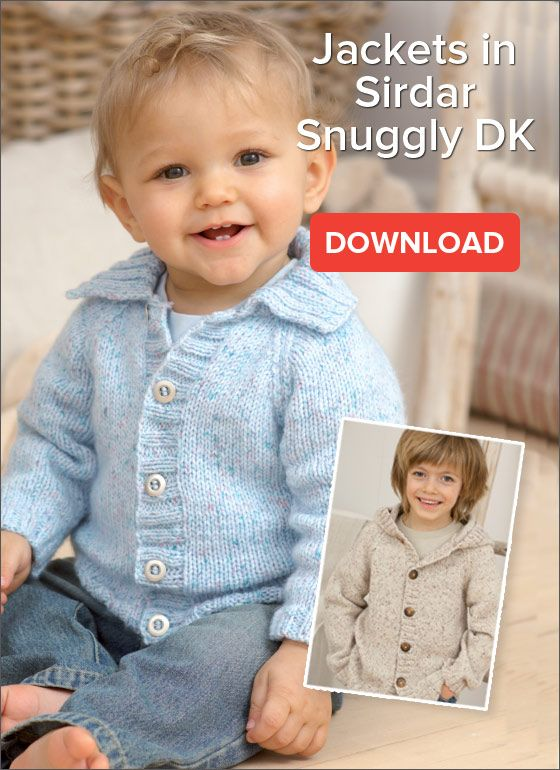 Free Pattern Childrens Jackets In Snuggly Dk Baby Knits
