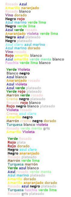 Combinaciones de colores