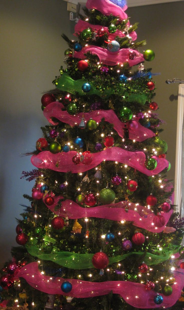 Pink and black christmas tree decorations - Find This Pin And More On Christmas