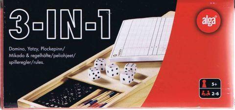 3-IN-1   Domino Yatzy Mikado   2-6 deltagere Alder: 5+