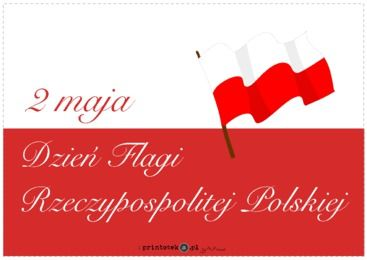 Dzień Flagi - napis - Printoteka.pl