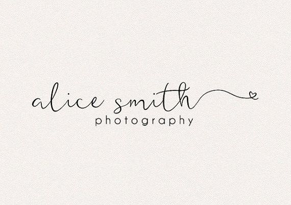 Photography Logo | Initial logo | Modern Logo | Heart Logo | Cute Logo…
