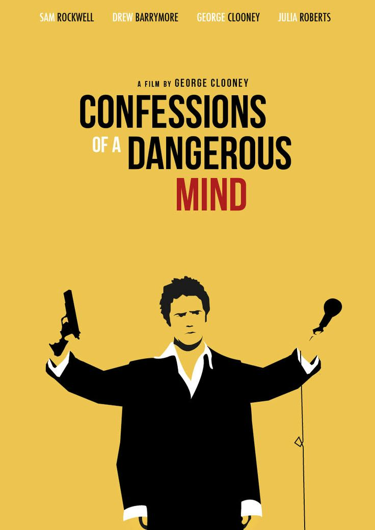 fan based movieposter of confessions of a dangerous mind. by Magzim