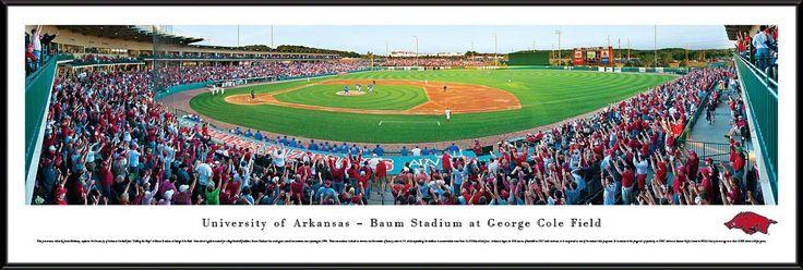 Arkansas Razorbacks Panoramic - Baum Stadium Picture - Baseball