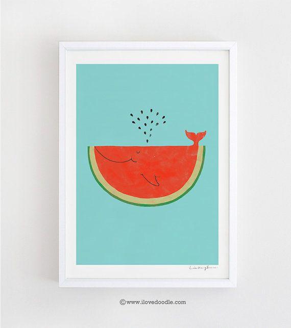 Ne laissez pas les graines vous empêcher de jouir de la pastèque. -art imprimé