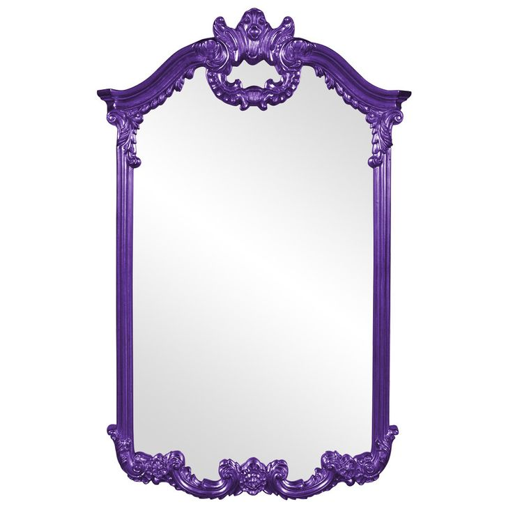 "Howard Elliott Roman Royal Purple Mirror 32"" x 51"" x 3"""
