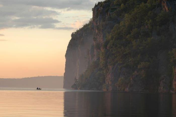 Over 260 aboriginal picographs cover the 100 metre escarpment, making the Mazinaw Rock a National Historic Site of Canada.