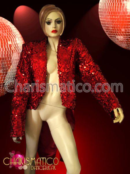 Charismatico Dancewear Store - CHARISMATICO Cabaret Diva or Ringmaster regal Red sequin tuxedo Tail Jacket, $170.00 (http://www.charismatico-dancewear.com/charismatico-cabaret-diva-or-ringmaster-regal-red-sequin-tuxedo-tail-jacket/)