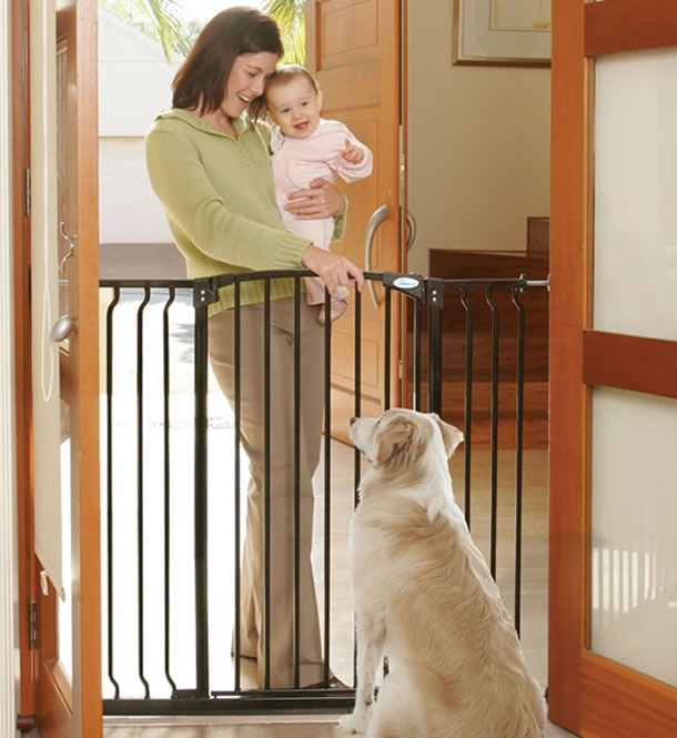 The Emmay Extra Tall Amp Extra Wide Child Safety Stair Gate