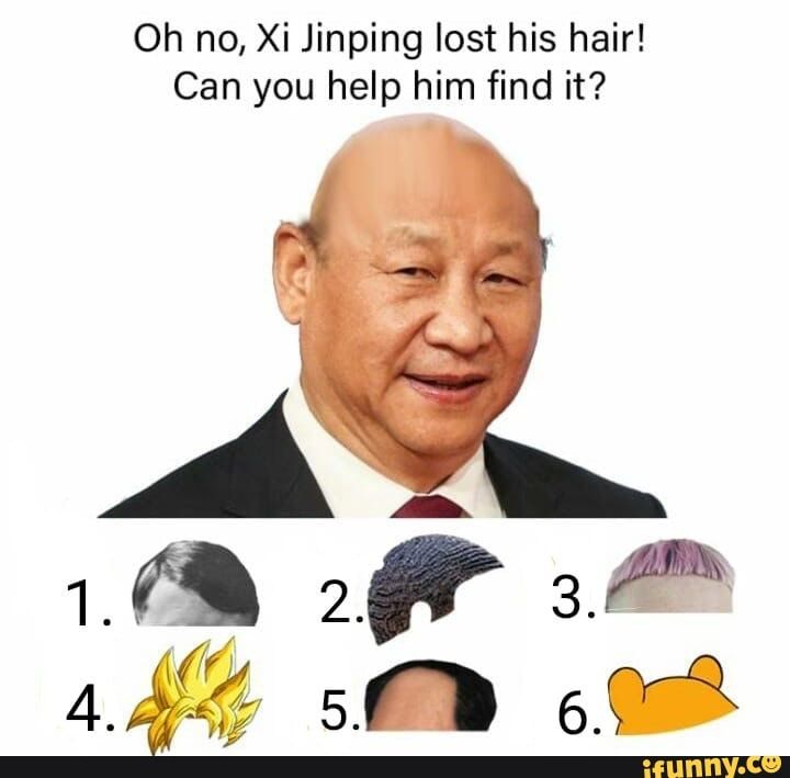 Oh No Xi Jinping Lost His Hair Can You Help Him Find It Ifunny In 2020 Edgy Memes Memes Funny Relatable Memes