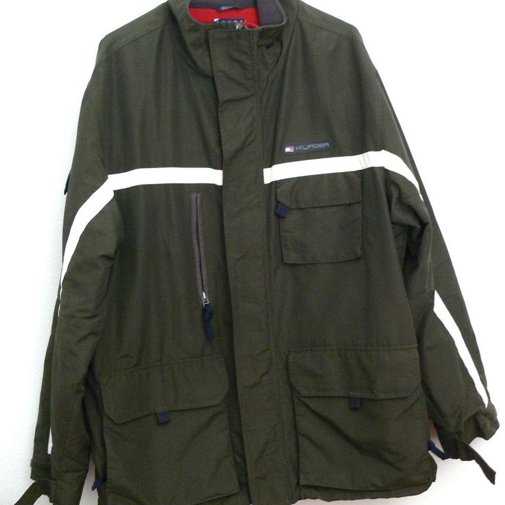 tommy hilfiger heavy winter coat jacket zipper multiple. Black Bedroom Furniture Sets. Home Design Ideas