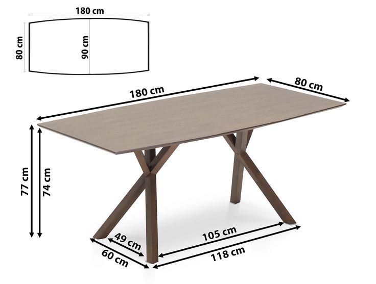 Mesa de comedor - Color nogal oscuro - LISALA