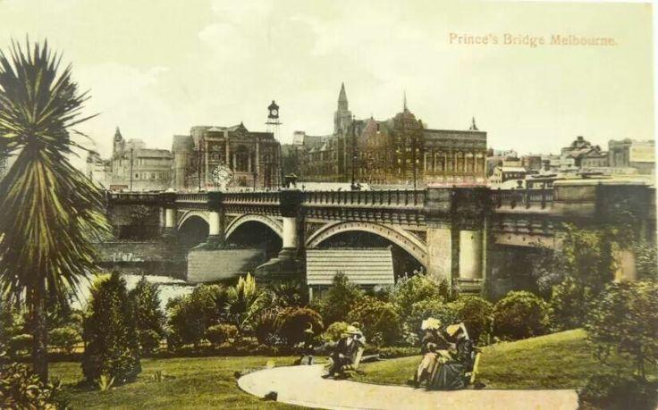 Prince's Bridge in Melbourne, Victoria (year unknown).