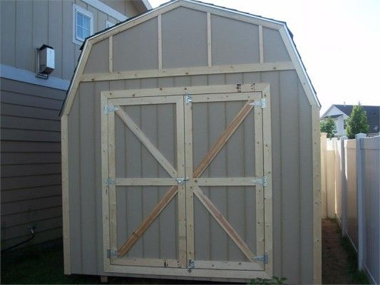 10 39 x 16 39 barn style wood shed kit storageshedsoutlet for Cheap barn kits