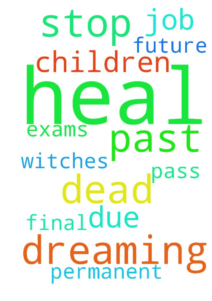 To stop dreaming about the dead To heal from past and - To stop dreaming about the dead To heal from past and future witches My children to pass final exams due To get a permanent job Posted at: https://prayerrequest.com/t/l1o #pray #prayer #request #prayerrequest