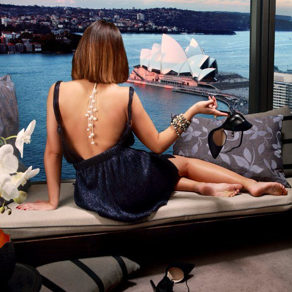 Australian pearls by Giulians photographed in Sydney's Four Seasons hotel