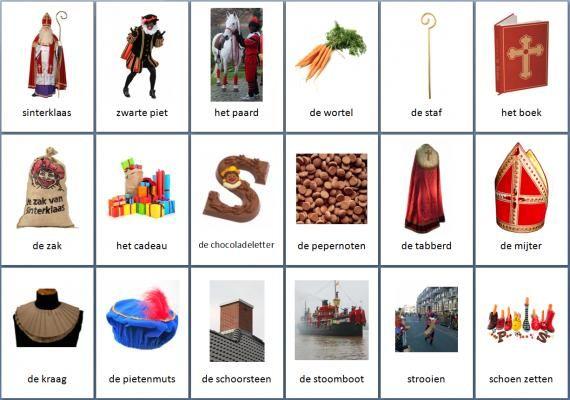 Grote themakaarten voor het thema sinterklaas, we hebben voor vele thema's grote en kleine themakaarten op de website van Juf Milou.