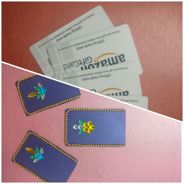 expired gift cards used for craft work diy giftcard