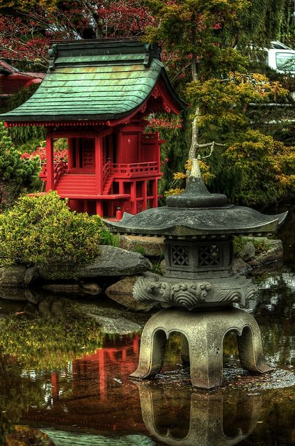 Japanese Garden in Point Defiance Park, Tacoma, WA.