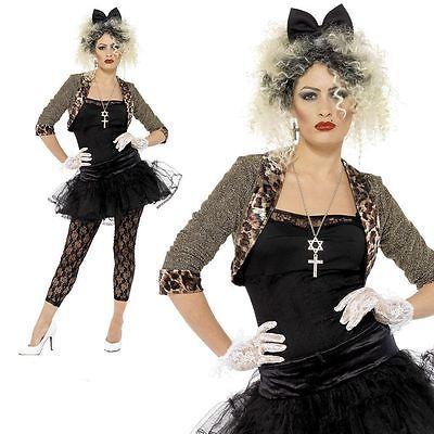 80s Pop Star Madonna Costume Wild Child Ladies Fancy Dress Costume Size 12 to 22 | Women's Fancy Dress | Fancy Dress - Zeppy.io