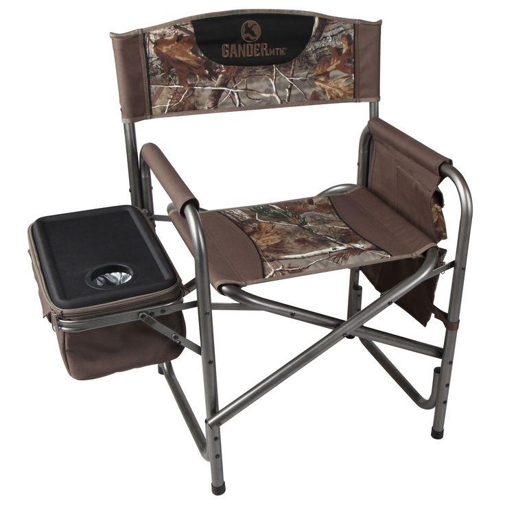 Gander Mountain Steel Directors Chair with Cooler Hunter Green-760885 - Gander Mountain