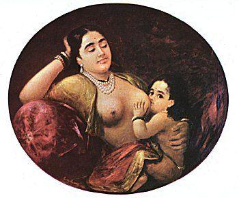 Suckling Child by Raja Ravi Verma