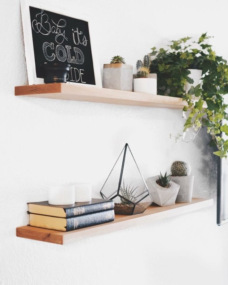 Blind shelf supports support your floating shelves for a clean and modern look. This customer project using our brackets looks great!