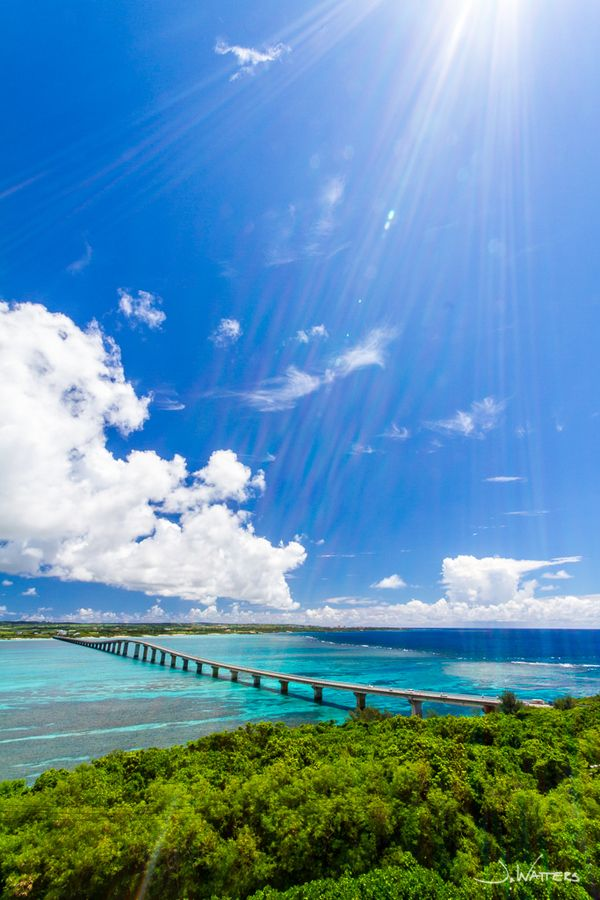 Kurimajima Bridge, Miyako Island, Okinawa, Japan