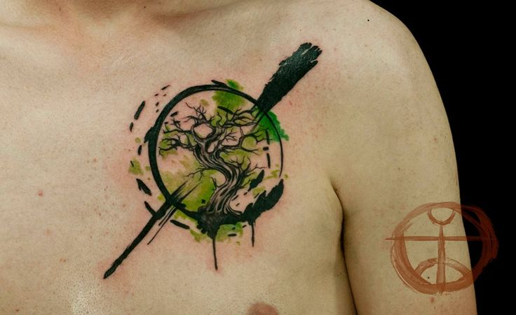 17 best images about tattoos on pinterest folk art for Tree of life watercolor tattoo