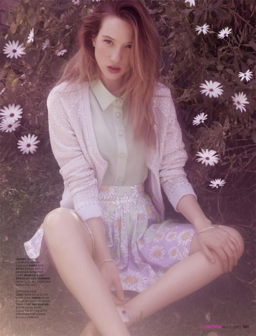 SOPHIE LOWE IS DREAMY IN PASTELS FOR COSMOPOLITAN AUSTRALIA'S MARCH ISSUE