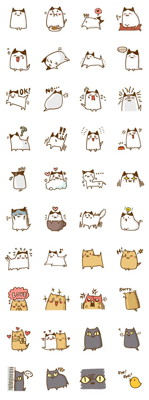 Stickers Kawaii Cats 画像