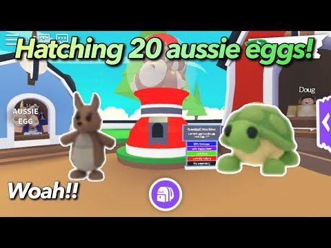Hatching 20 Aussie Eggs I Got Legendary Pet Kangaroo Roblox