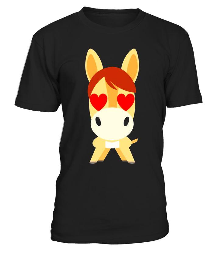 Horse Emoji Heart & Love Eye Shirt T-Shirt Tee  Funny Easter T-shirt, Best Easter T-shirt