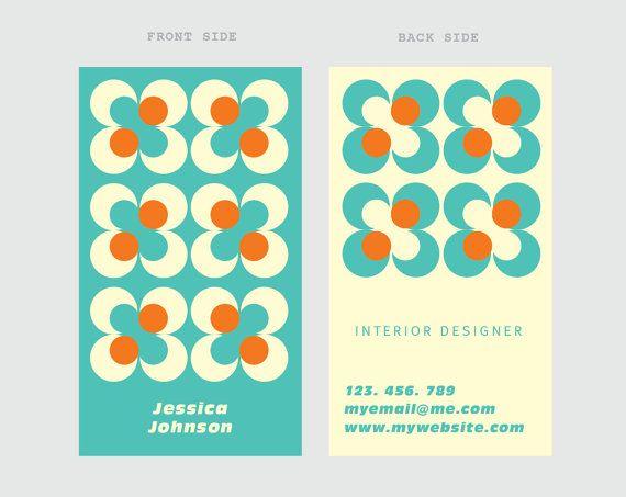 "Business card template ""polka dots"""