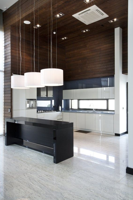 Modern Kitchen Interior [ Specialtydoors.com ] #Kitchen #hardware #slidingdoor
