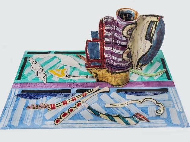 (Betty Woodman: 'Window Vase #2 and Carpet', 2013. © Betty Woodman. Photo: Bruno Bruchi )