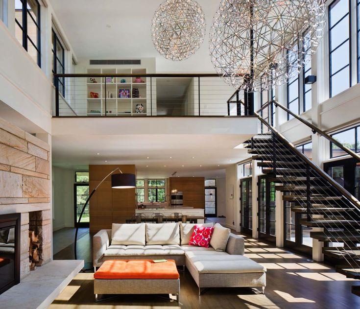 Inspirierende moderne rustikale Wohnung von Natur aus in New York State umgeben