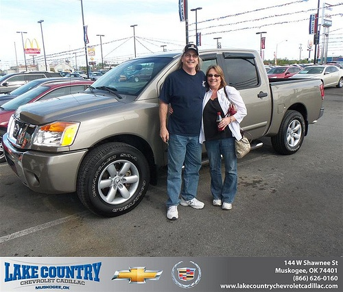 Lake Country Chevrolet Cadillac would like to say Congratulations to Bryan Lingafelter on the 2008 Nissan Titan