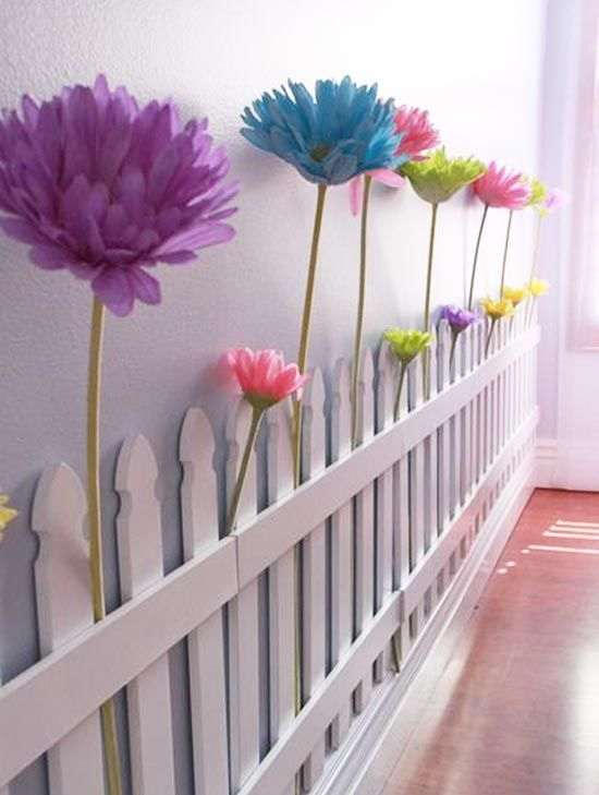 Большие напольные цветы из гофрированной бумаги своими руками