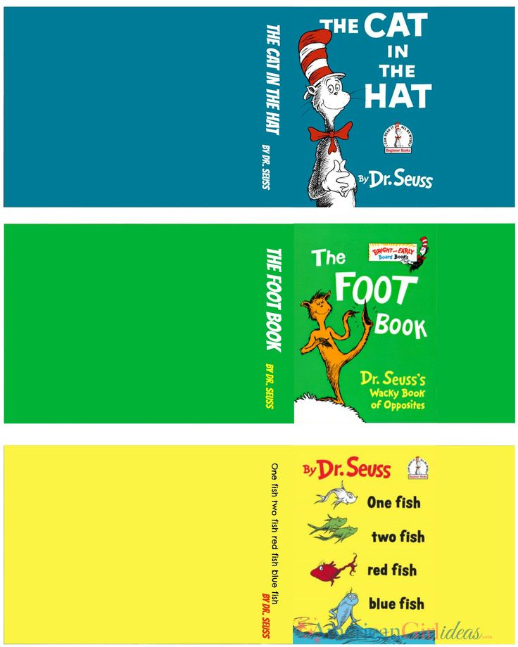 Dr. Seuss Book Set.  This American Girl Doll site has some great ideas.  I'm sure these can be reduced to 1:6 scale for Ginny.  Thank you American Girl Doll Ideas!