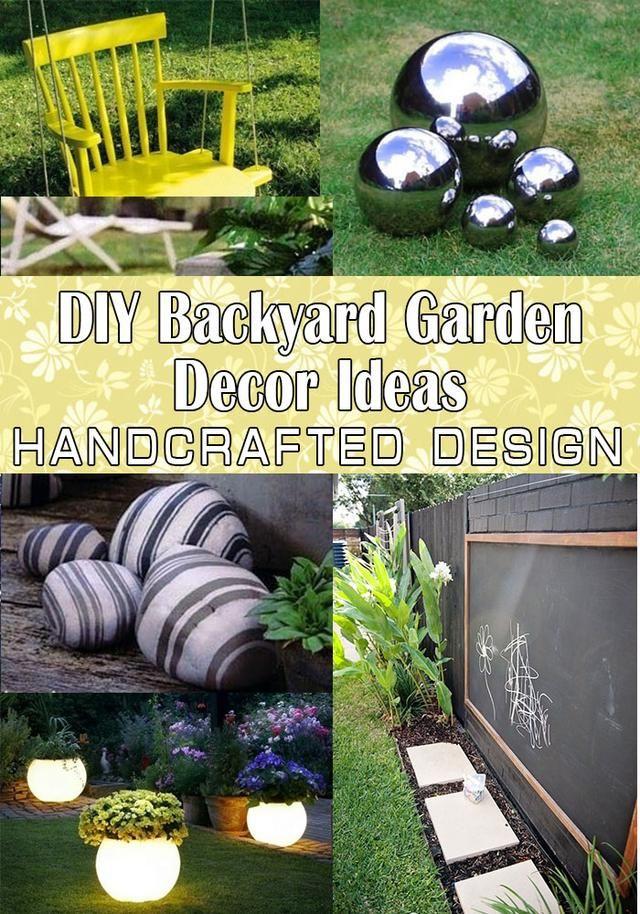 DIY Backyard Garden Decor Ideas Gardening Pinterest Garden