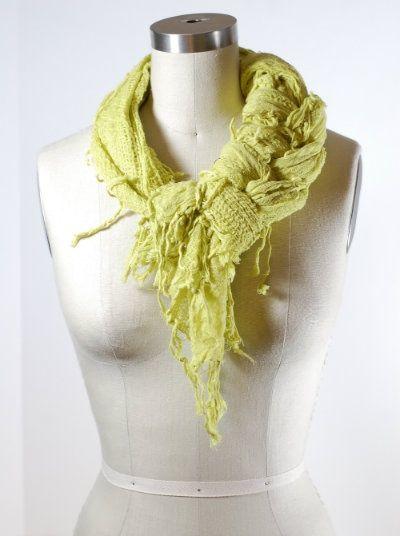 fancy braid scarf knot